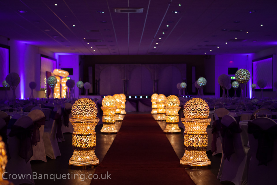 Asian wedding hall crown banqueting hall for Asian wedding stage decoration birmingham