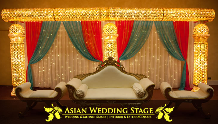 Wedding stages for asian wedding venues crown banqueting for Front royal wedding venues